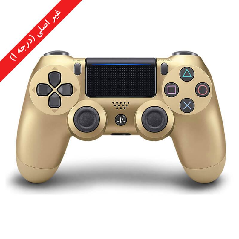 کنترلر (دسته) PS4 | غیر اصلی درجه 1 | طلایی – آکبند
