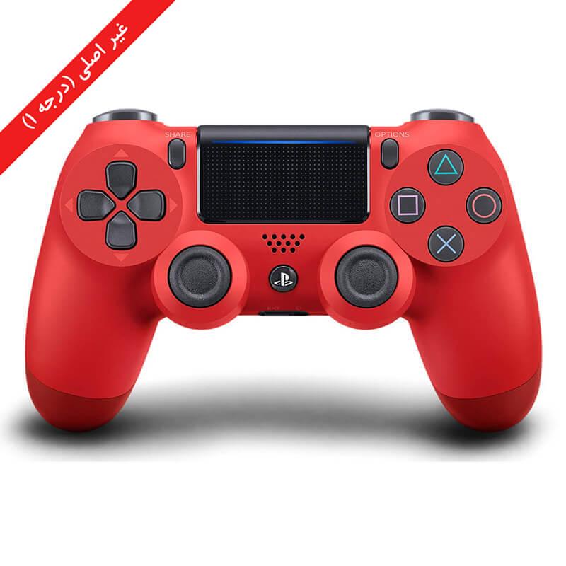 کنترلر (دسته) PS4 | غیر اصلی درجه 1 | قرمز – آکبند