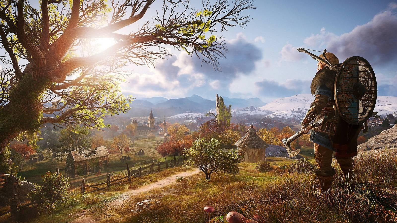 محیط بازی assassins creed valhalla در ps5