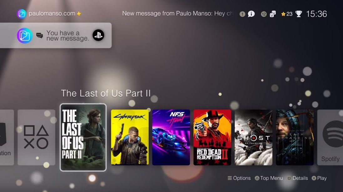 رابط کاربری PS5