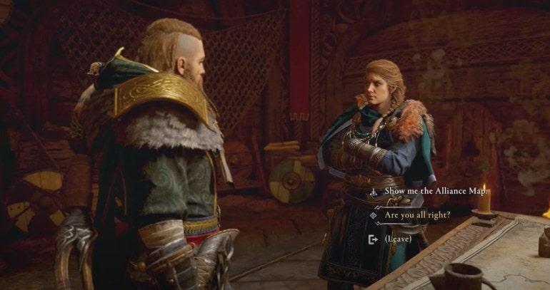 انتخاب در بازی Assassin's Creed Valhalla