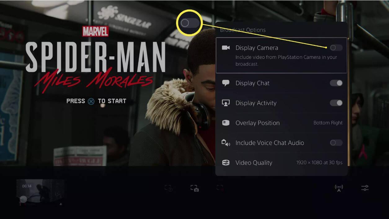 دوربین پلی استیشن 5 تنظیمات7