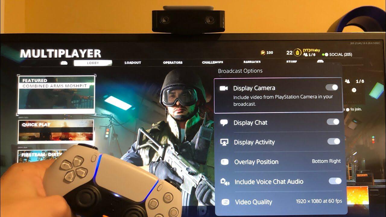 تصویری از استریم کردن بازی از طریق دوربین در PS5
