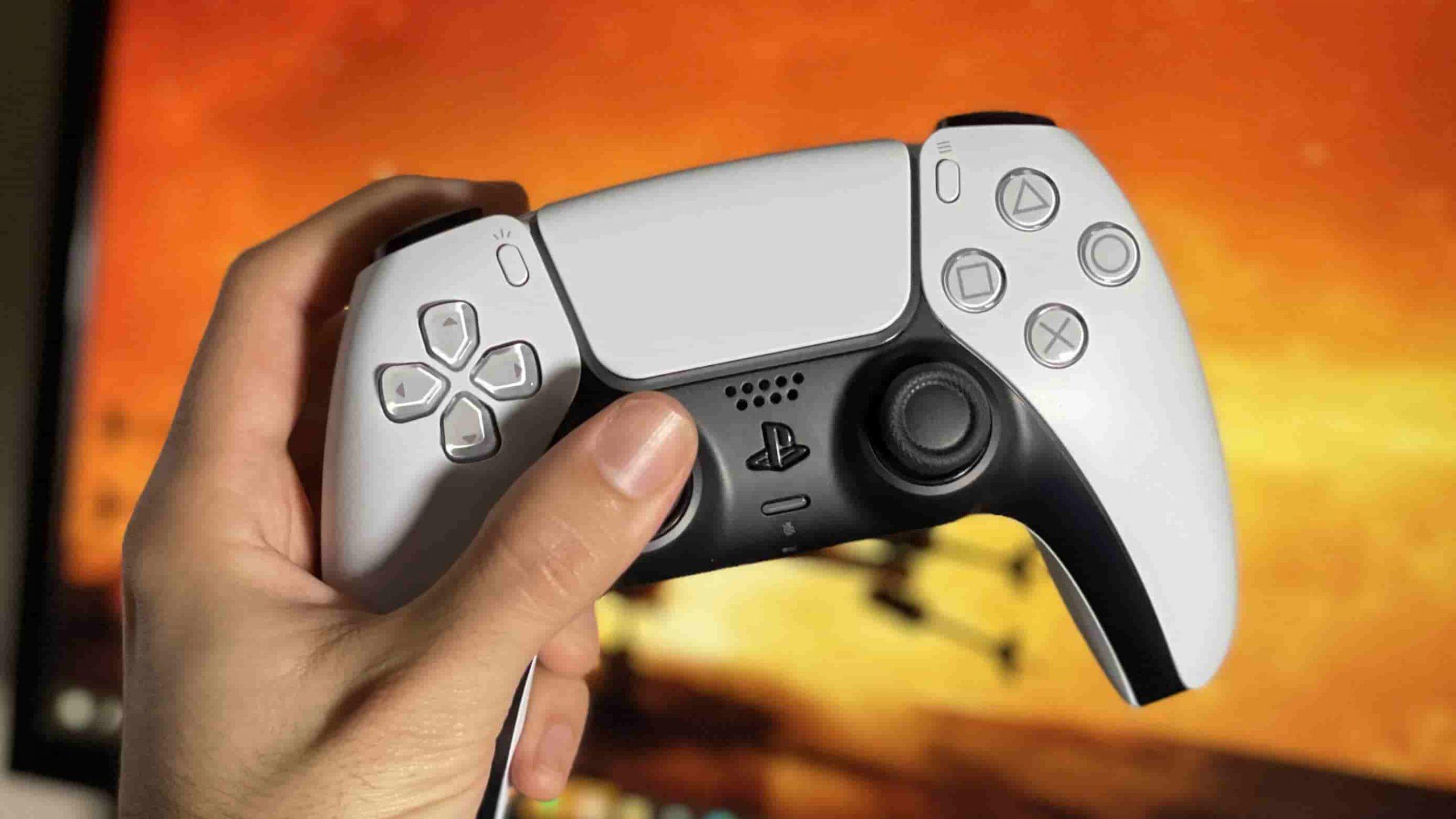 کنترلر DualSense بی سیم سفید مشکی
