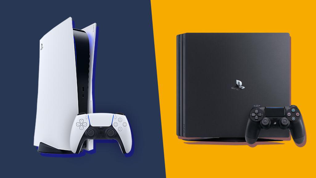 کنسول PS5 در کنار PS4