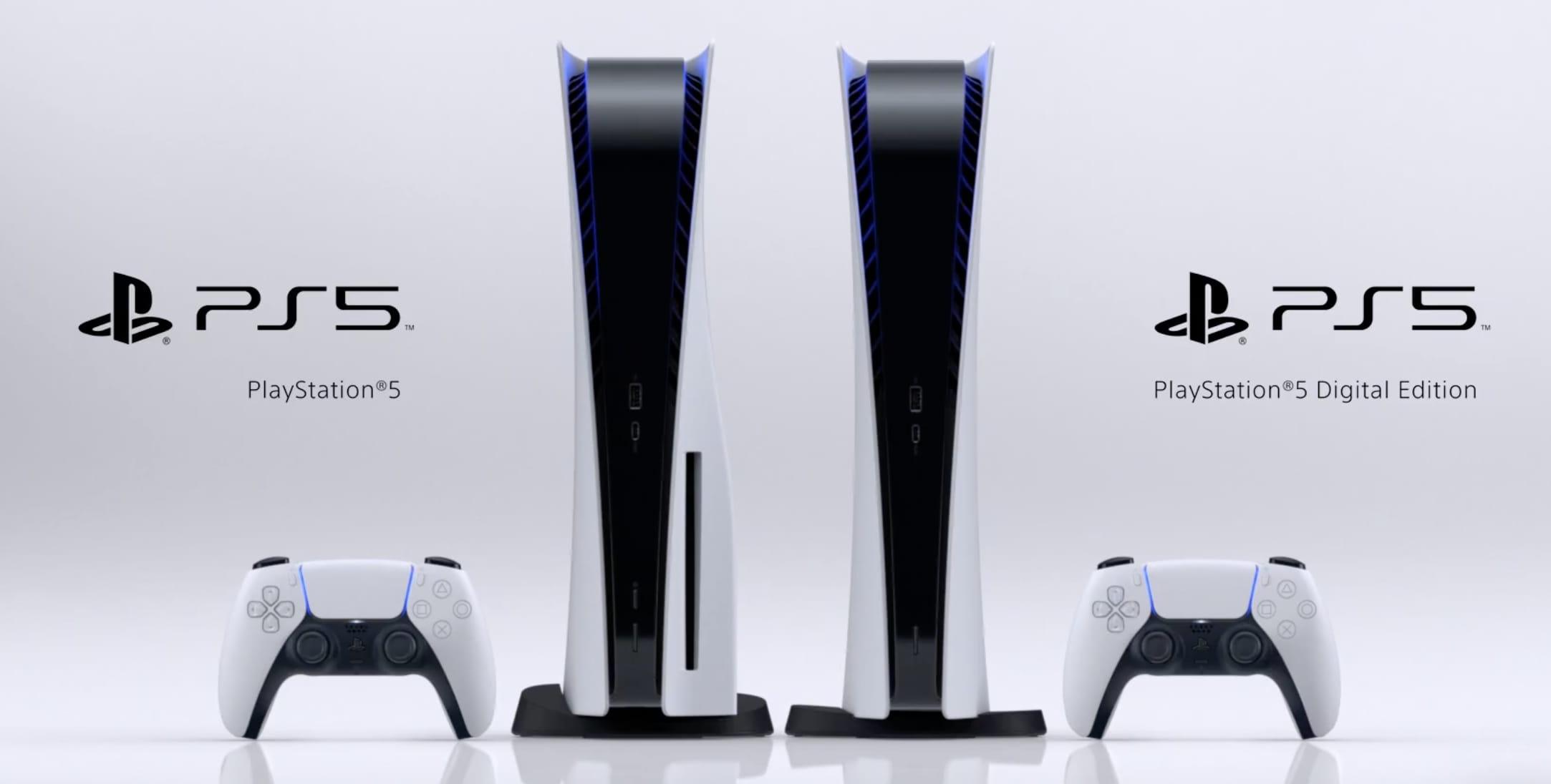 PS5 و PS5 digital edition در کنار یکدیگر