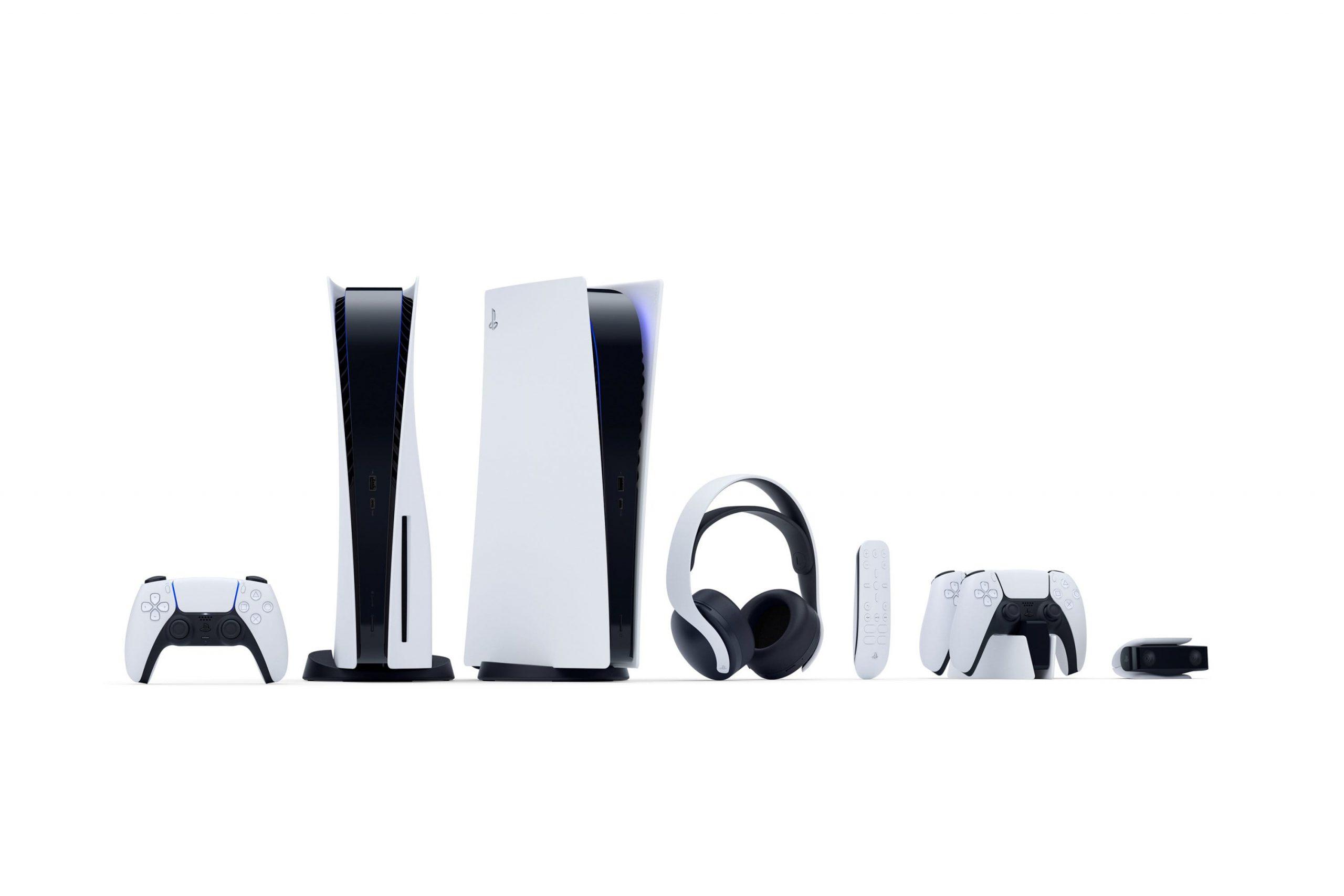 دو مدل از PS5 به همراه لوازم های جانبی