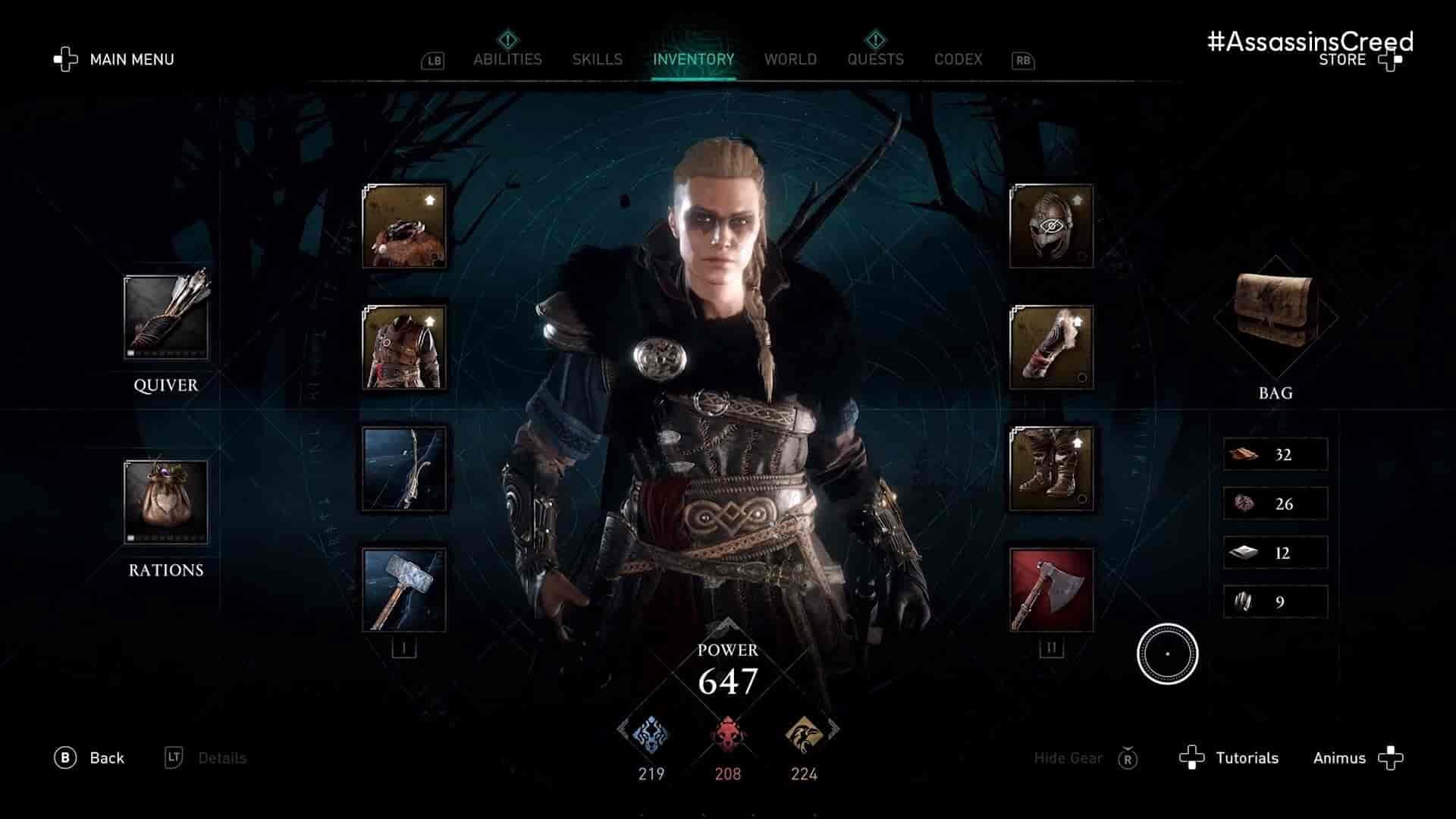 امکانات کارکتر بازی Assassin's Creed Valhalla