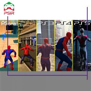 مقایسه گرافیک بازی ها از ps1 تا ps5