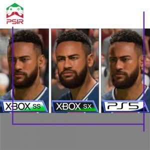 مقایسه گرافیکی بازی فیفا ۲۱ در ایکس باکس سری اس | ایکس و پلی استیشن ۵ | مقایسه بازی fifa 21