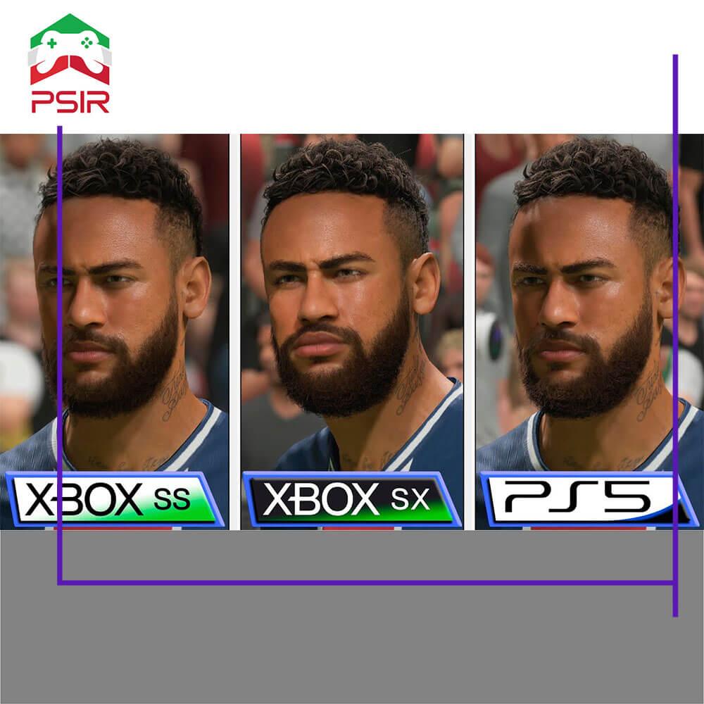 مقایسه گرافیکی بازی فیفا ۲۱ در ایکس باکس سری اس   ایکس و پلی استیشن ۵   مقایسه بازی fifa 21