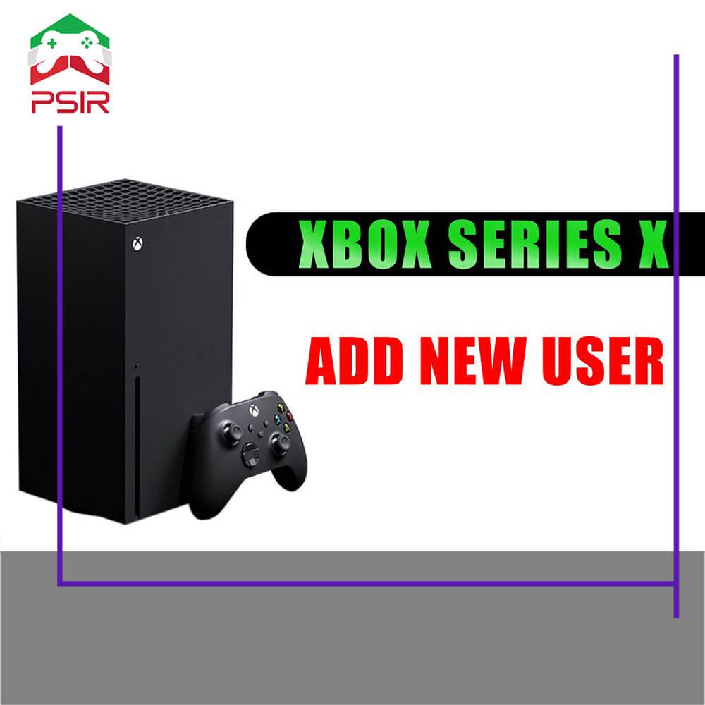 ساخت کاربر جدید در xbox series x|s