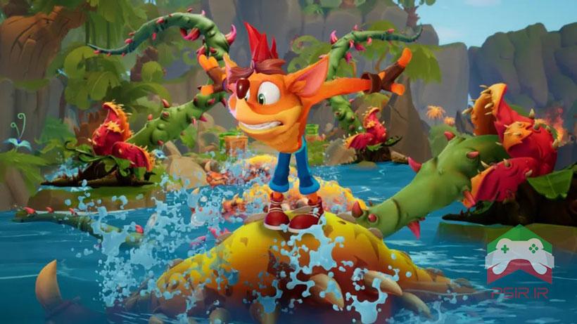 مقایسه بازی Crash Bandicoot 4 بر روی نینتندو سوئیچ و ps5 تصویر ۲