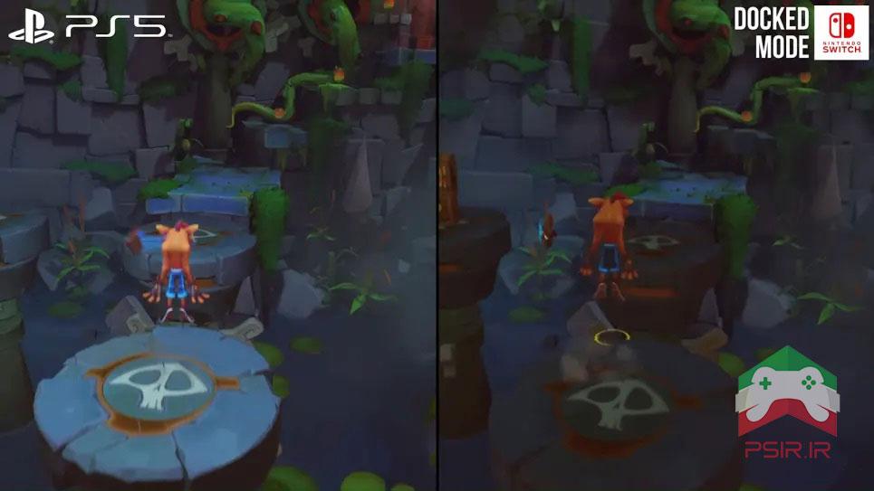 مقایسه بازی Crash Bandicoot 4 بر روی نینتندو سوئیچ و ps5 تصویر ۴