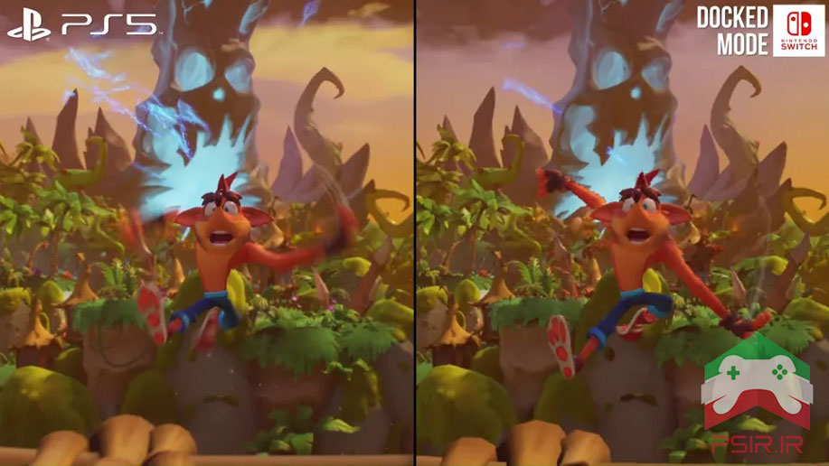 مقایسه بازی Crash Bandicoot 4 بر روی نینتندو سوئیچ و ps5 تصویر ۵