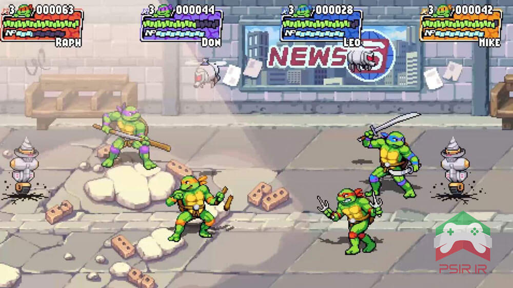 گیم پلی Teenage Mutant Ninja Turtles: Shredder's Revenge