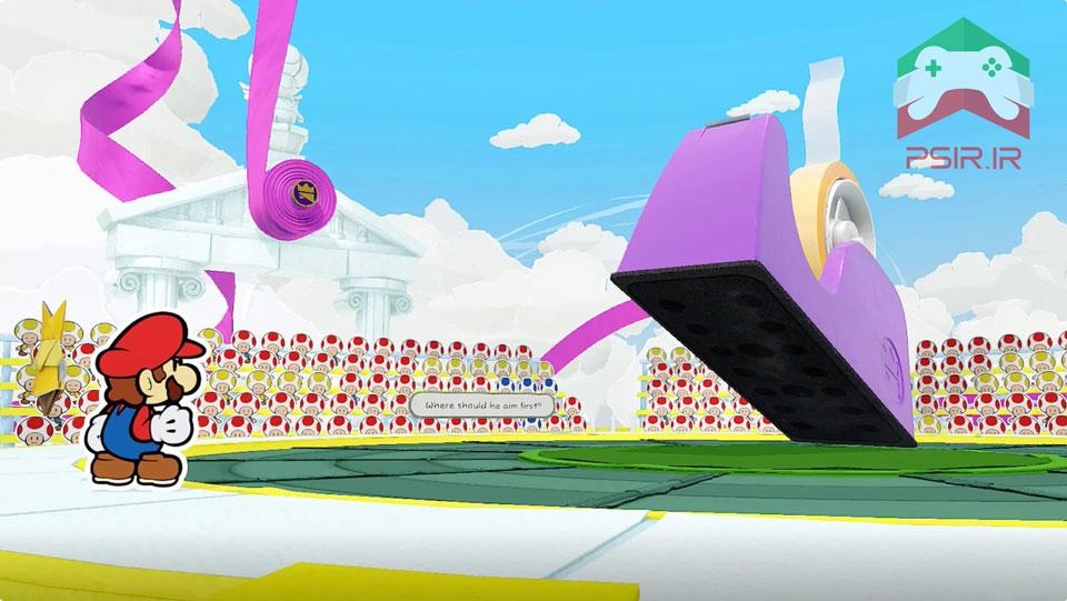اسکرین شات از بازی PAPER MARIO: THE ORIGAMI KING