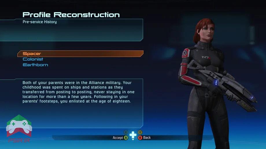 آموزش ساخت پروفایل در Mass Effect Legendary Edition