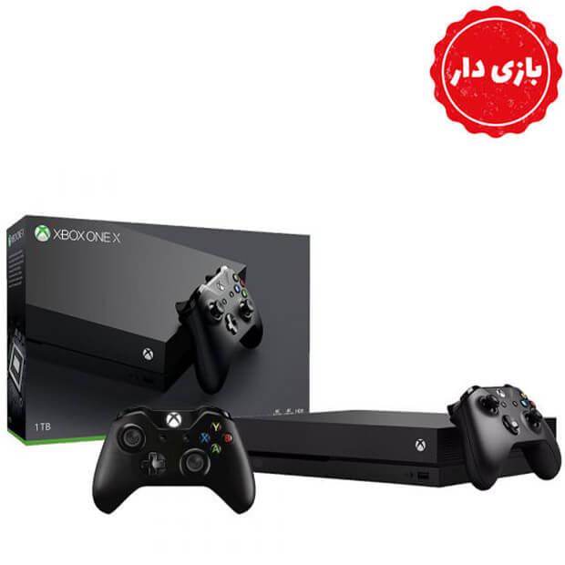 Xbox One X هارد 1 ترابایت دو دسته بازی دار استوک