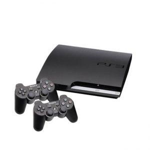 PS3 SLIM حافظه 120 گیگابایت دو دسته - استوک