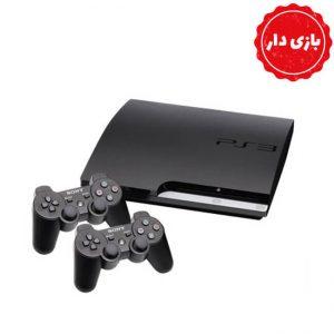 PS3 SLIM حافظه 120 گیگابایت دو دسته بازی دار - استوک