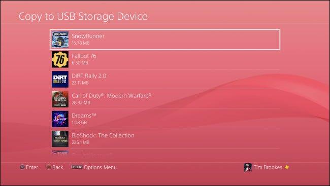 آموزش پشتیبان گیری PS4 در فلش | تصویر تنظیمات