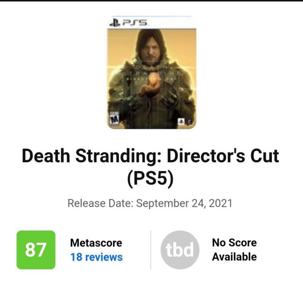 متای عنوان Death Stranding Director's Cut اعلام شد