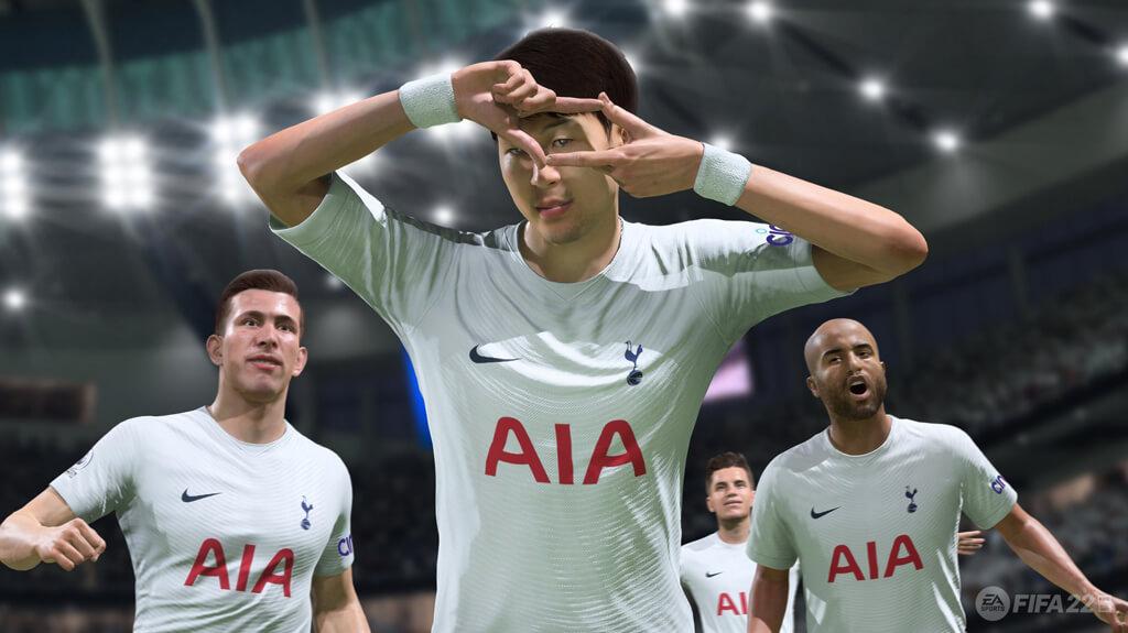 تصویر سون از تیم تاتنهام در FIFA22