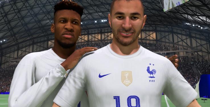 بنزما و فرانسه در فیفا 22