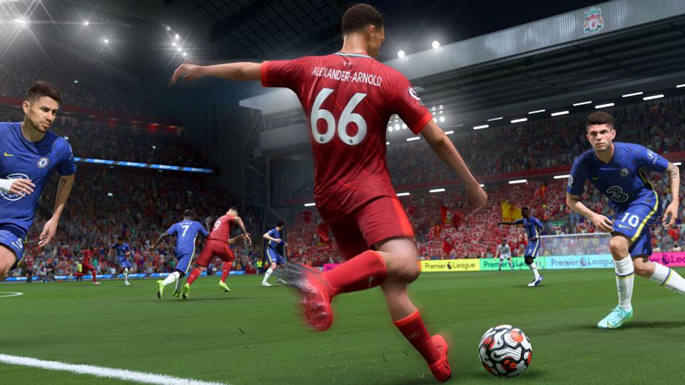 تصویری از محیط و گیم پلی بازی FIFA22