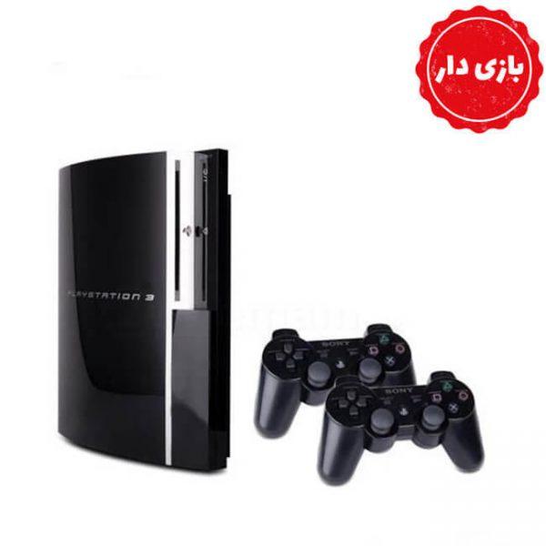 PS3 FAT حافظه 500 گیگابایت دو دسته بازی دار - استوک