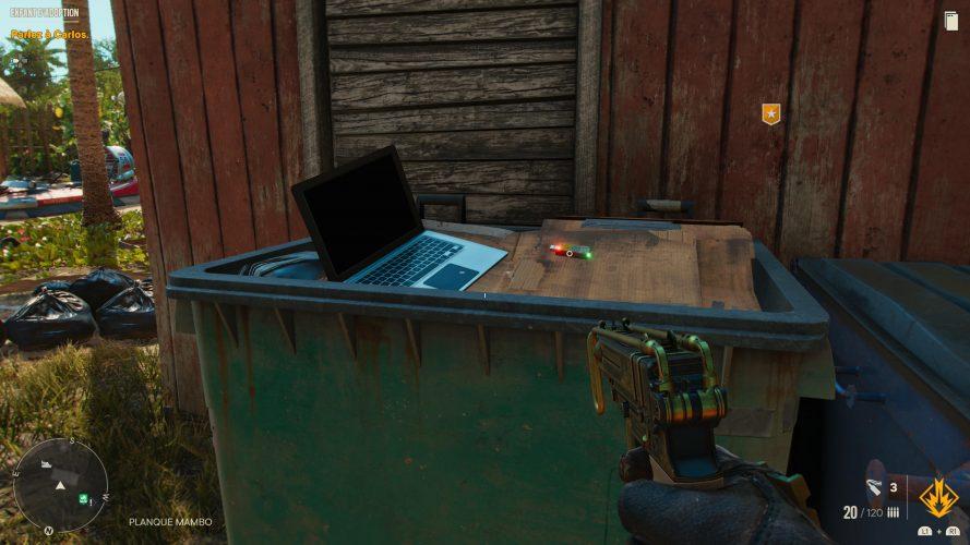 تصویر لپ تاپ در بازی فارکرای 6